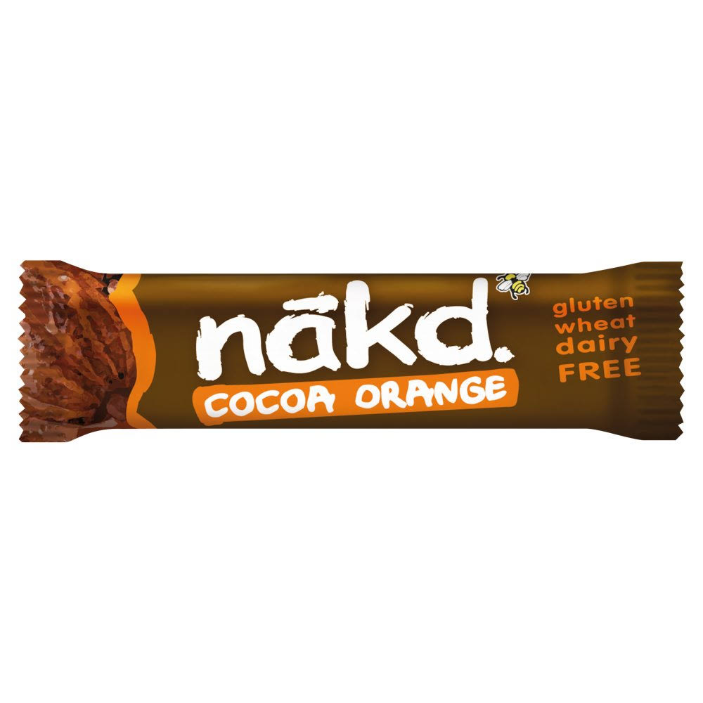 Nākd Cocoa Orange Raw Fruit and Nut Bar - 35g