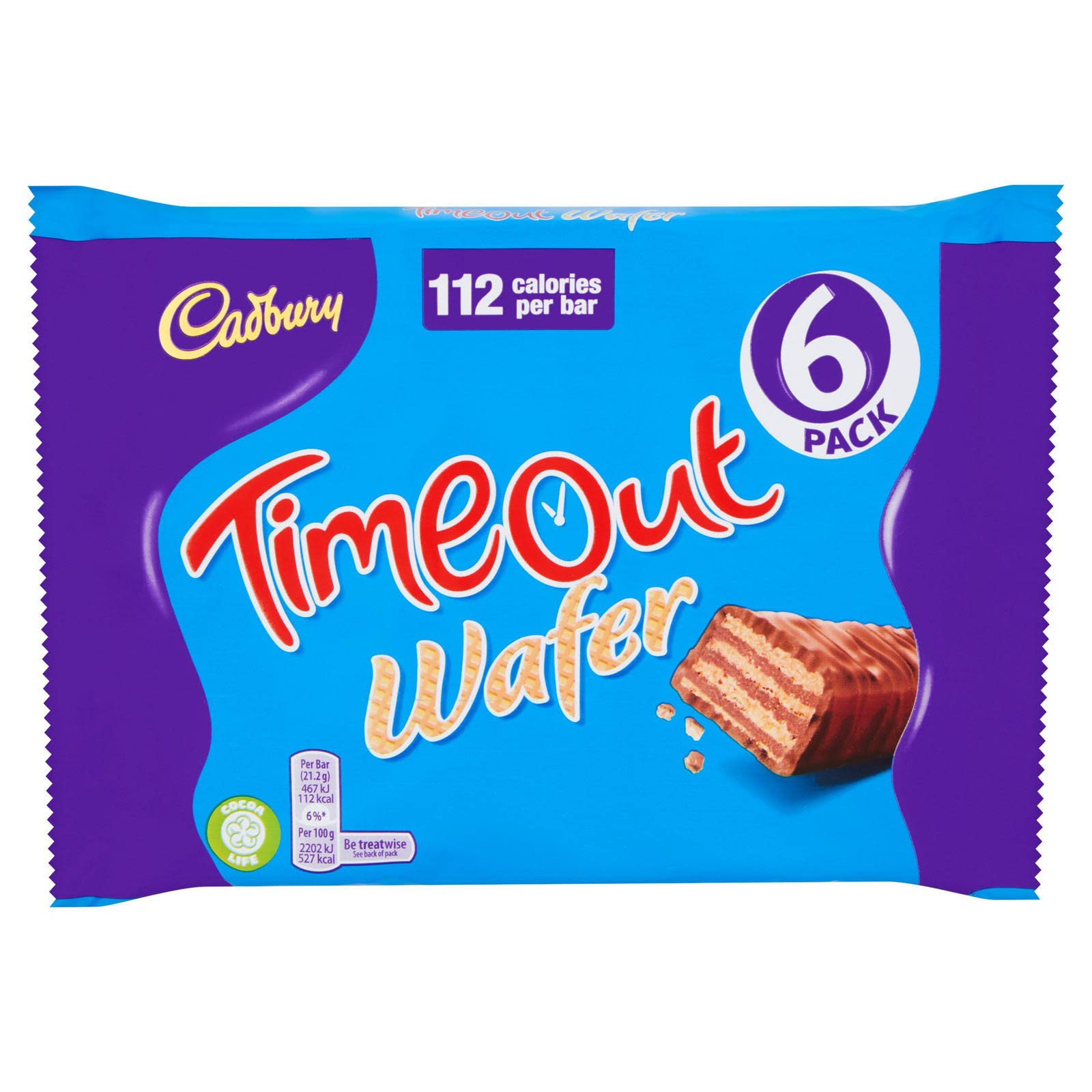 Cadbury Timeout Wafer - 6 Pack, 127.2g