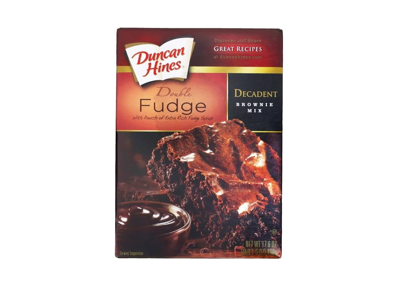 Duncan Hines Decadent Double Fudge Brownie Mix - 498g