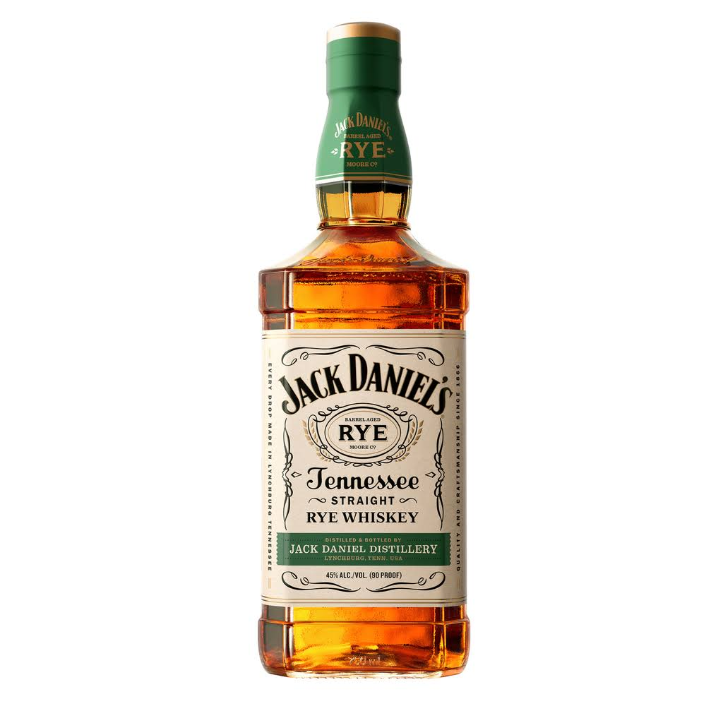 Jack Daniels Tennessee Rye Whiskey, Tennessee Rye Whiskey - 750 ml