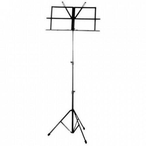 Guardian Adjustable Folding Music Stand - Black