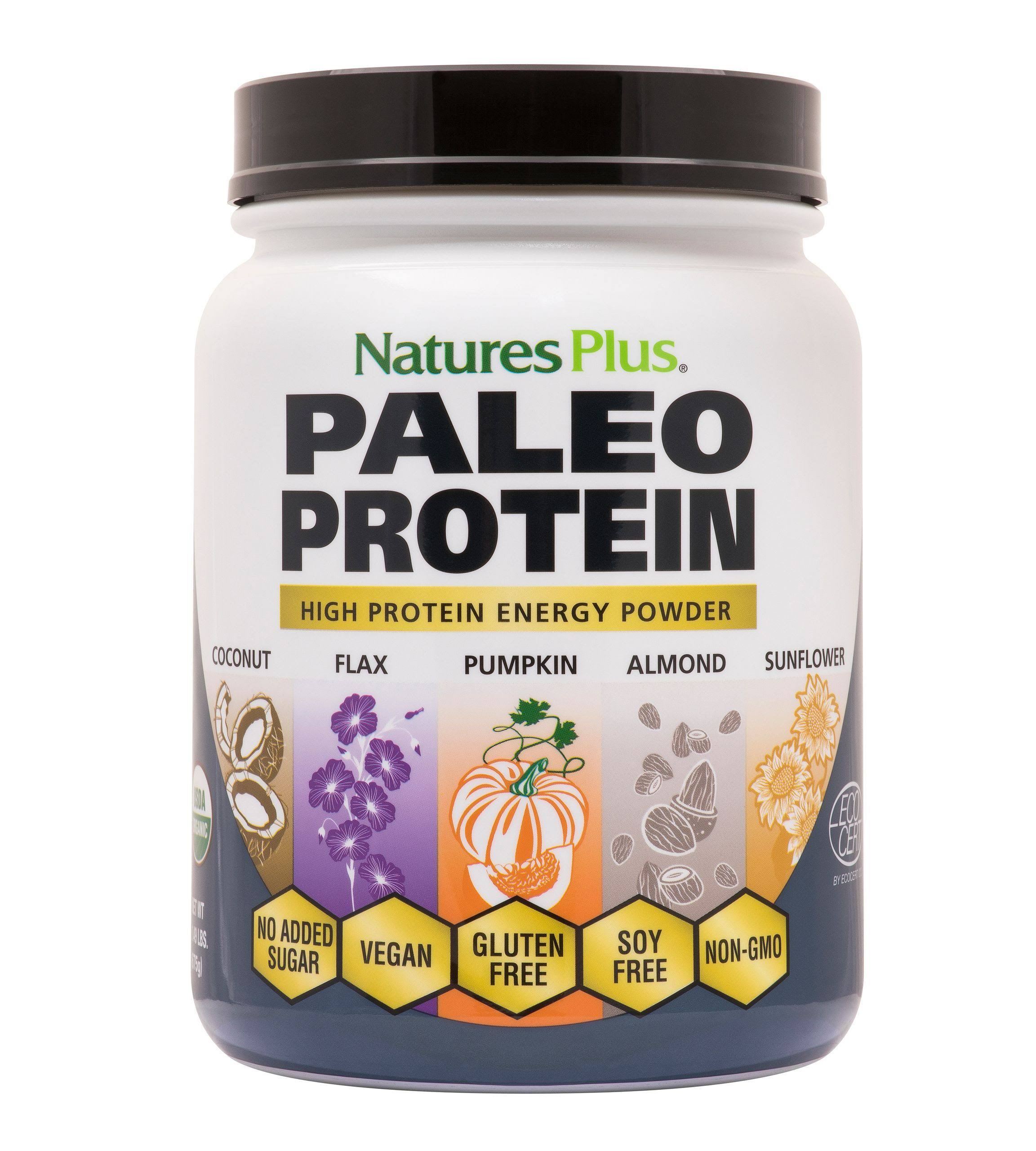Natures Plus Organic Paleo High Protein Energy Powder - 1.49 lbs