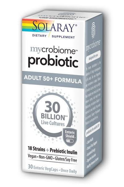 Solaray Mycrobiome Probiotic Adult 50+ 30 Billion 30 Capsules
