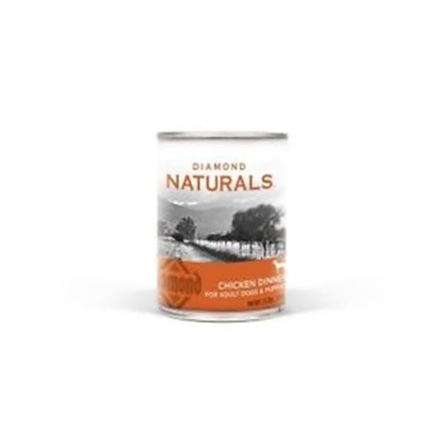 Diamond Naturals Adult Dogs and Puppies Canned Food - Chicken Dinner, 13oz