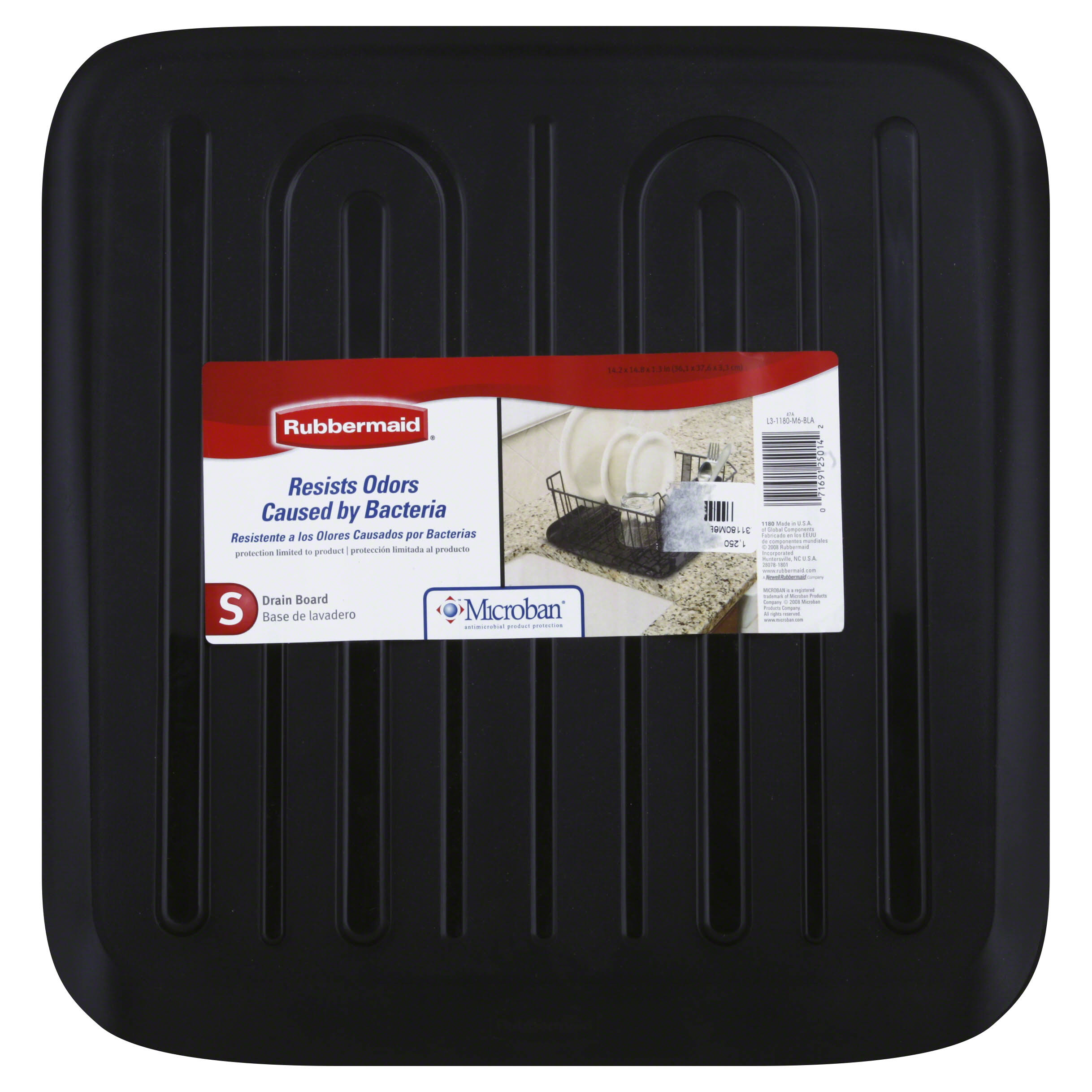 Rubbermaid Drainer Tray - Black, Small