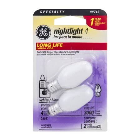 Ge Electric Nightlight Bulb - Soft White, 4W, 2 Pack