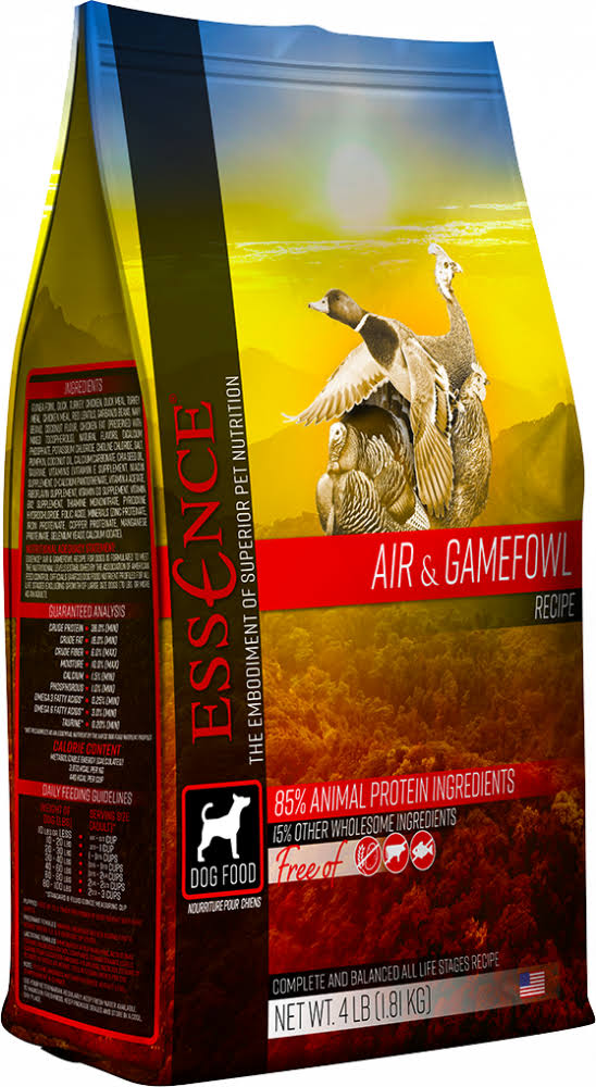 Essence Air & Gamefowl Recipe Dry Dog Food - 12.5lb