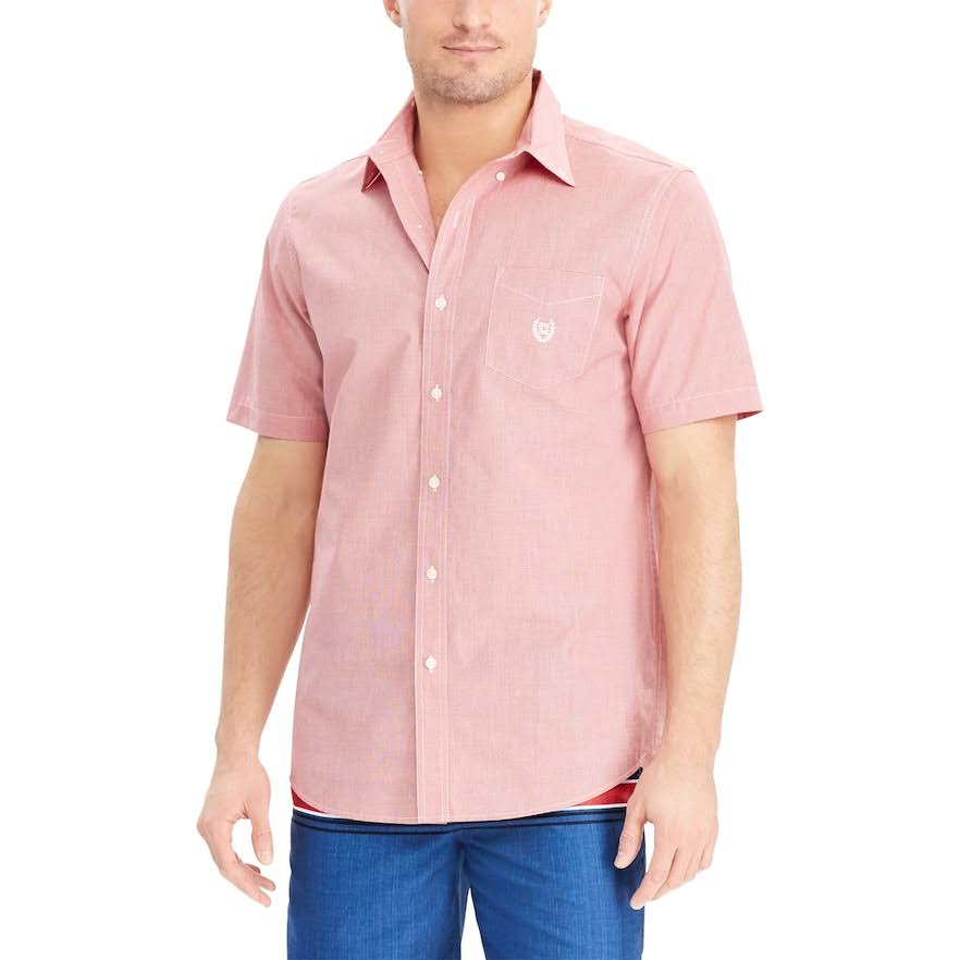 Men's Chaps Classic-Fit Easy-Care Button-Down Shirt, Size: XL, Red