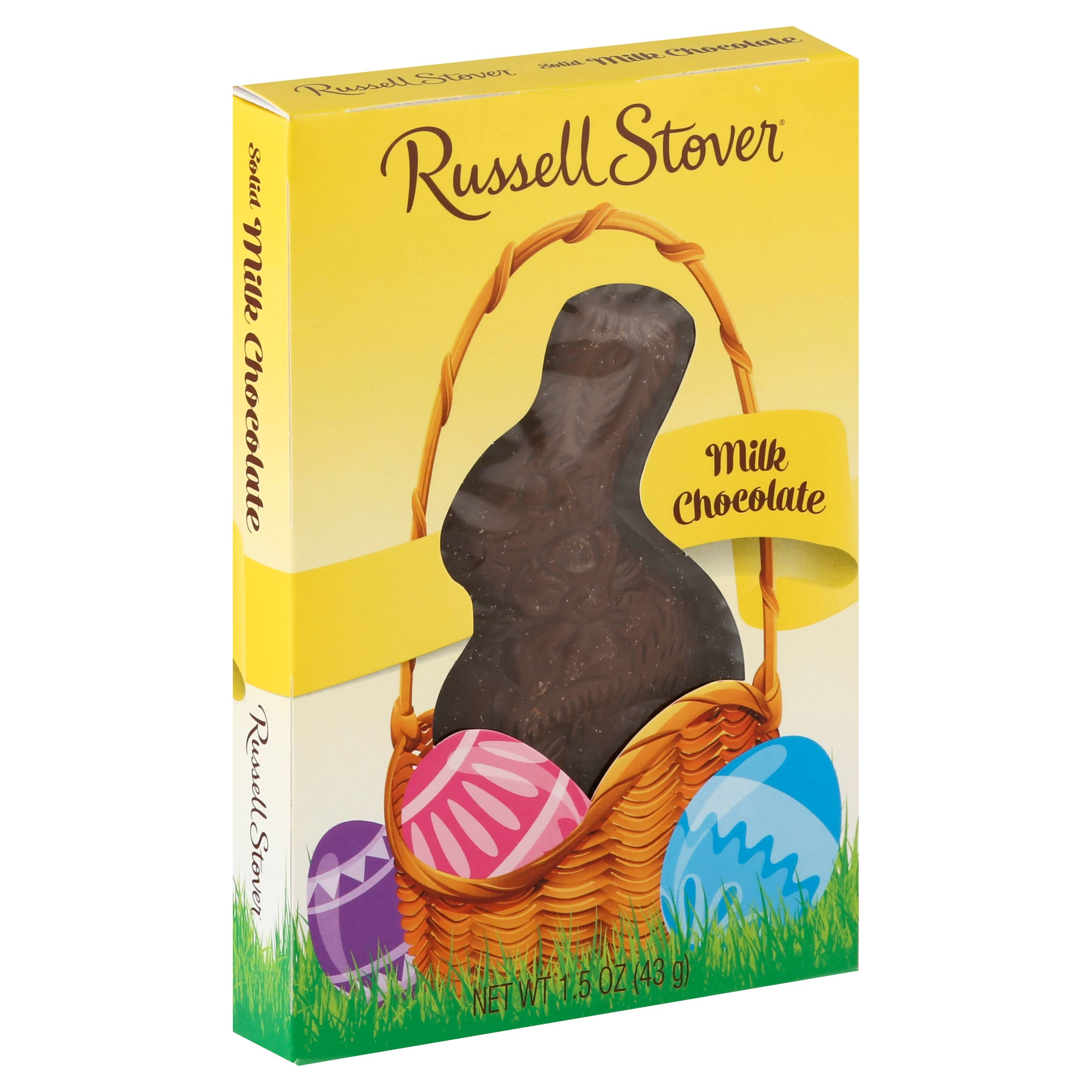 Russell Stover Solid Bunny Milk Chocolate - 1.5oz