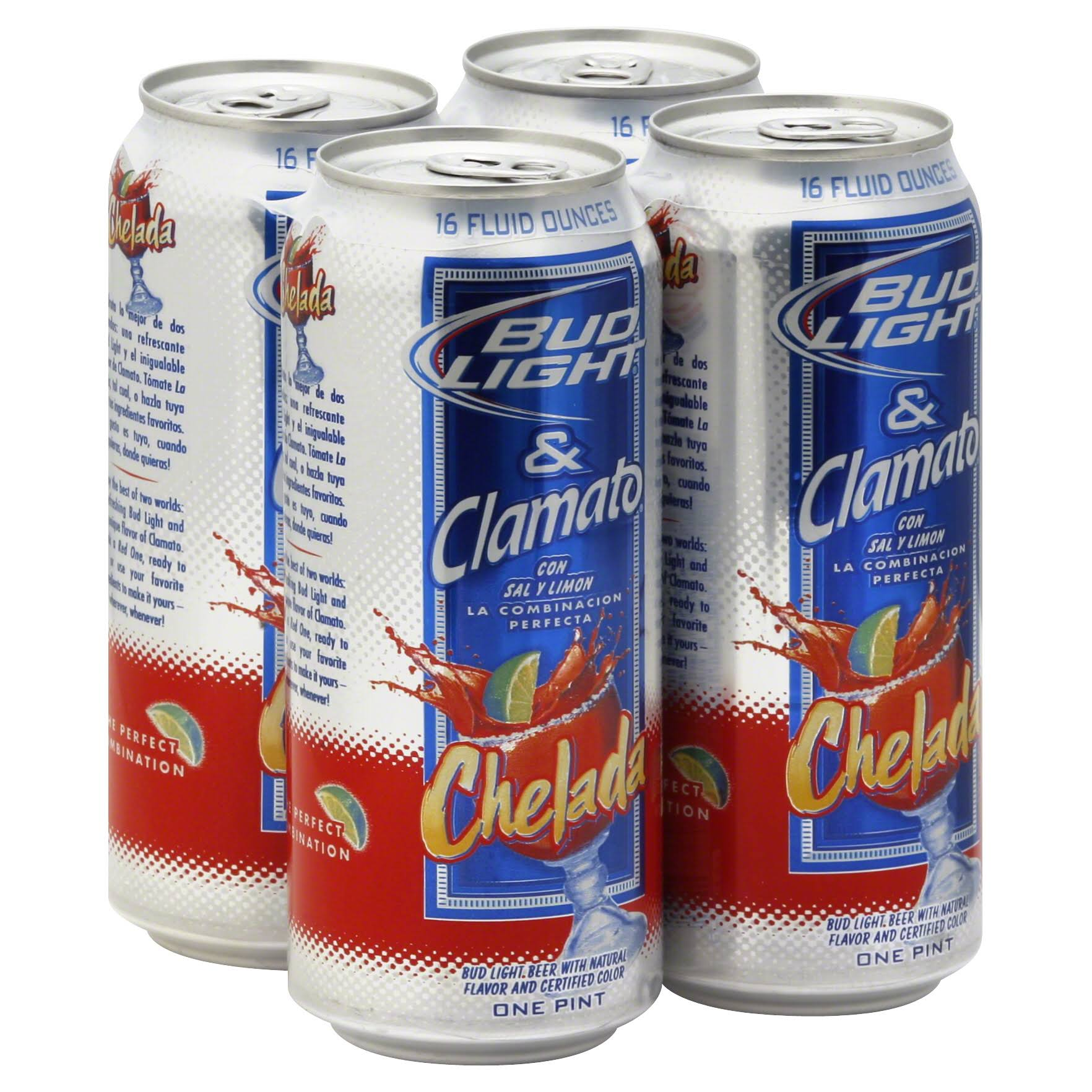 Bud Light Clamato Chelada Beer - 16oz