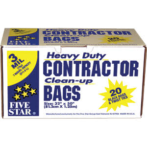 5 Star 3 Mil Garbage Bags - 20ct, Large