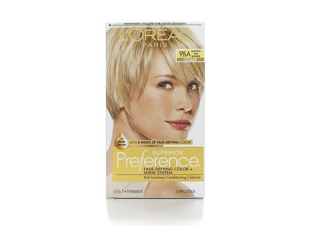 L'Oreal Paris Superior Preference 9 1/2A Lightest Ash Blonde Cooler Permanent Hair Color