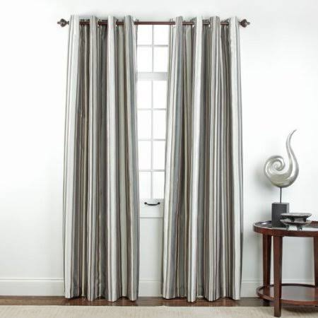 Belle Maison Serene Printed Grommet Blackout Single Curtain PANEL; Stone
