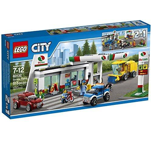 LEGO City Town Service Station Building Kit - 515pcs