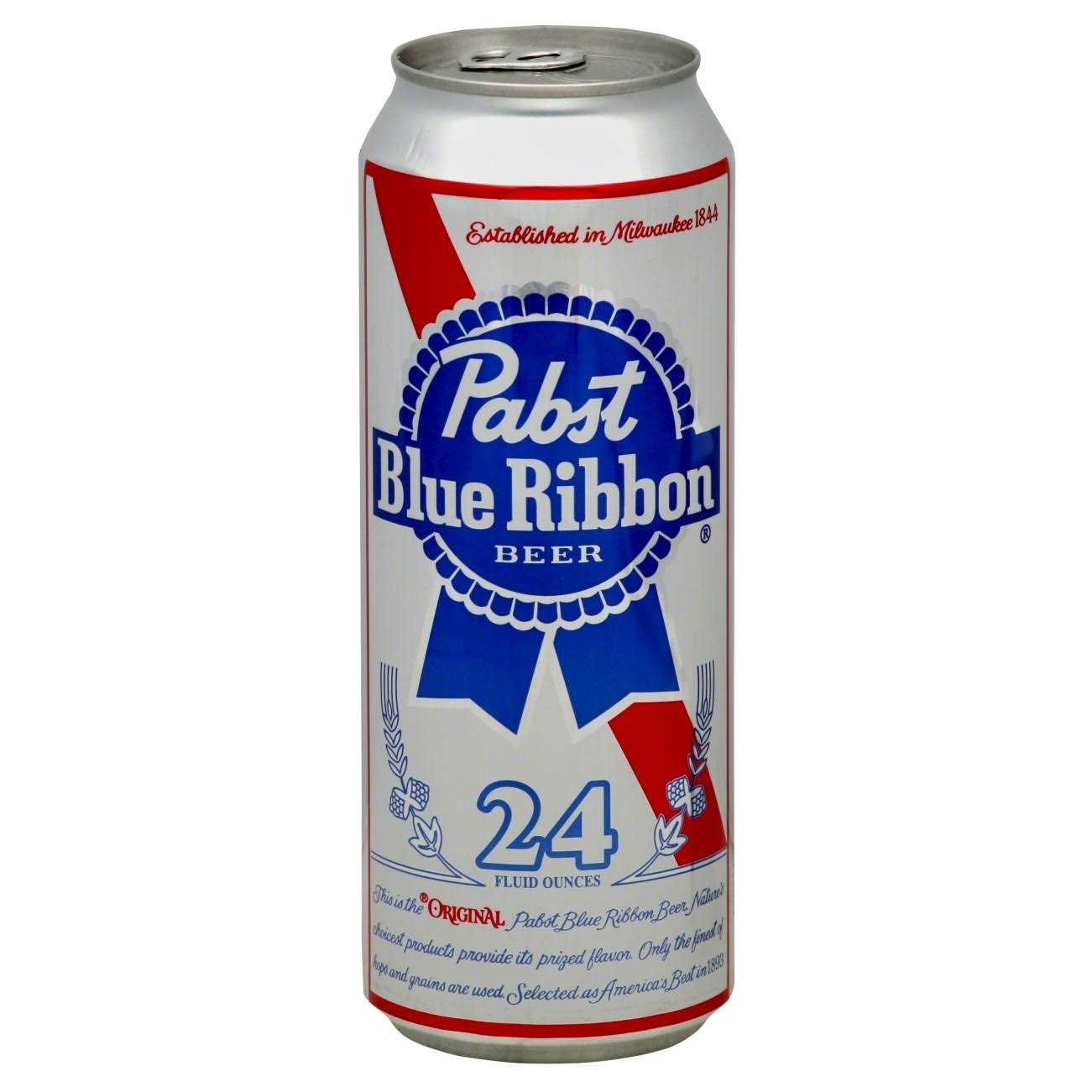 Pabst Blue Ribbon Beer - 24 fluid ounces, 710 ml