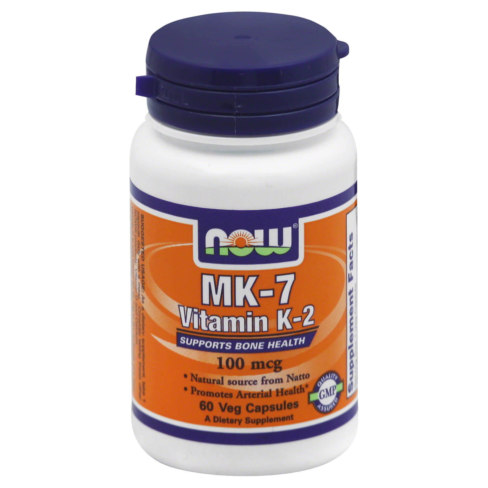 Now Foods MK7 Vitamin K-2 Bone Health Support - 60 Capsules