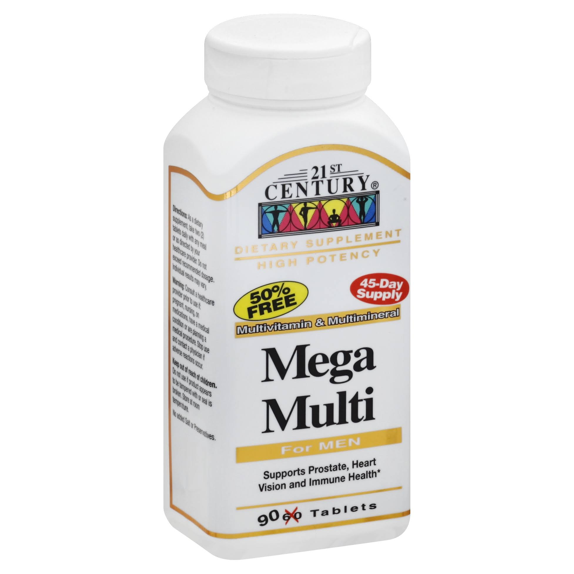21st Century Men's Mega Multi Supplement - 90 Tablets