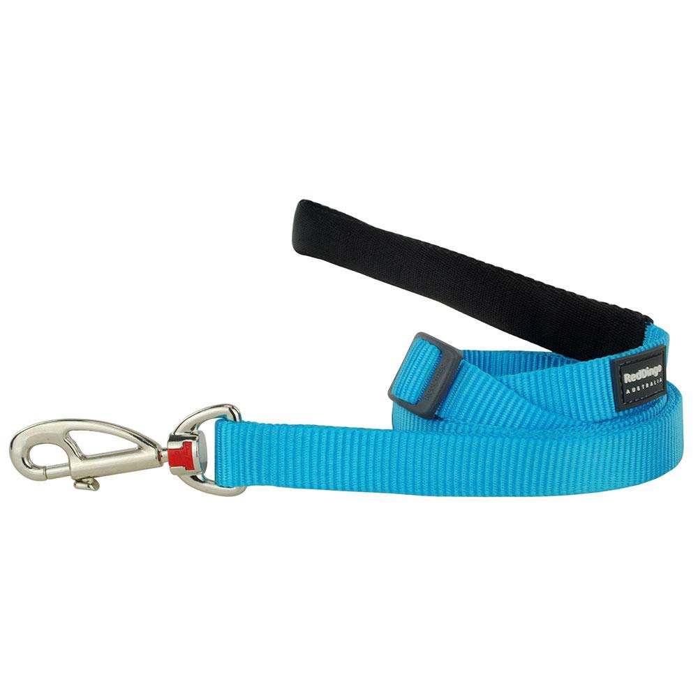 Red Dingo Adjustable Lead - Classic Turquoise, 15mm x 1.5m