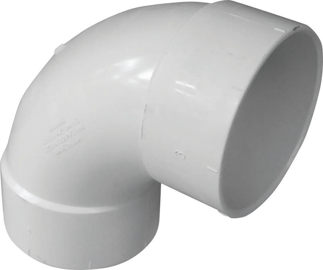 Genova PVC 90-Degree Sanitary Pipe Elbow - 3in
