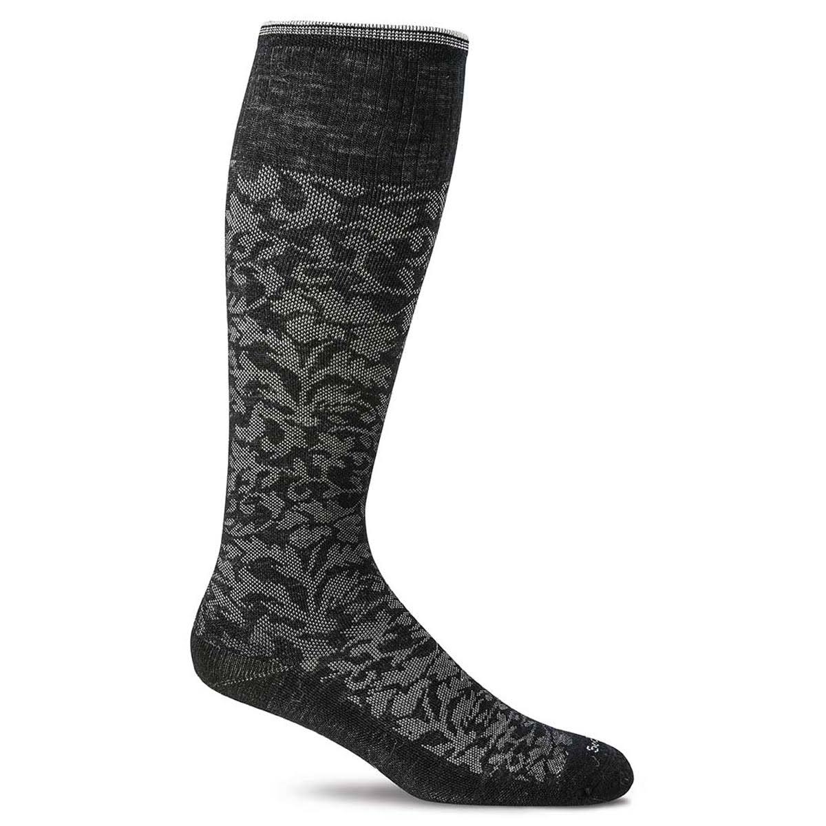 Sockwell Damask Knee High Multi Women's Socks - Black