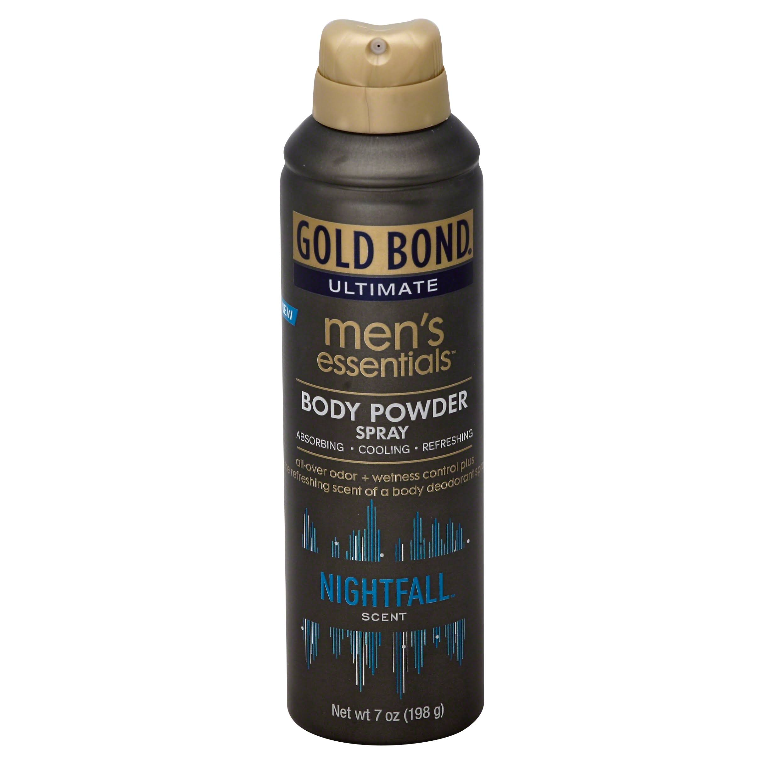 Gold Bond Ultimate Men's Essentials Nightfall Scent Body Powder Spray - 7 oz