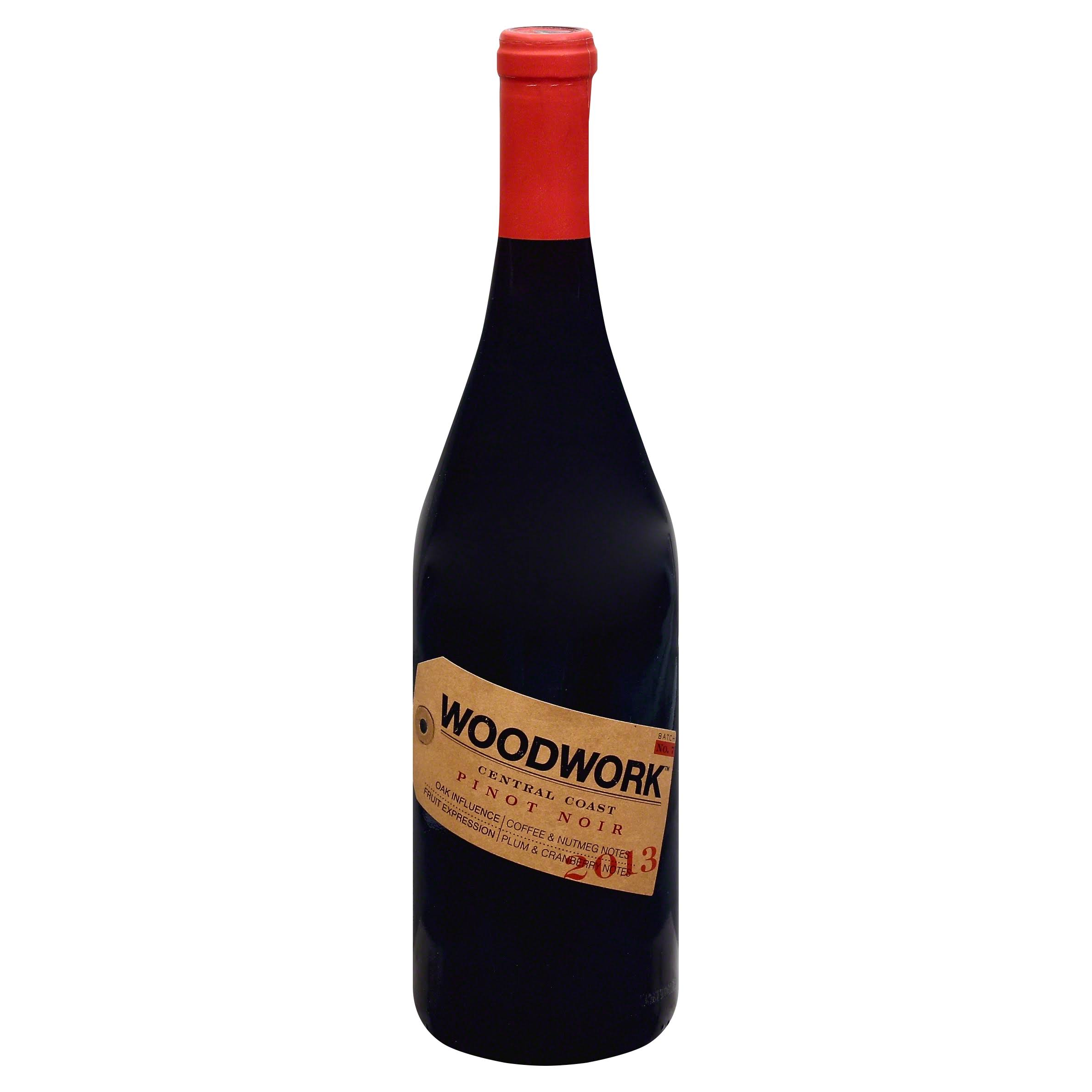 Woodwork Pinot Noir, California (Vintage Varies) - 750 ml bottle