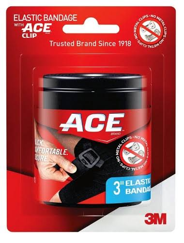 Ace Elastic Bandage - with Clip, 3""