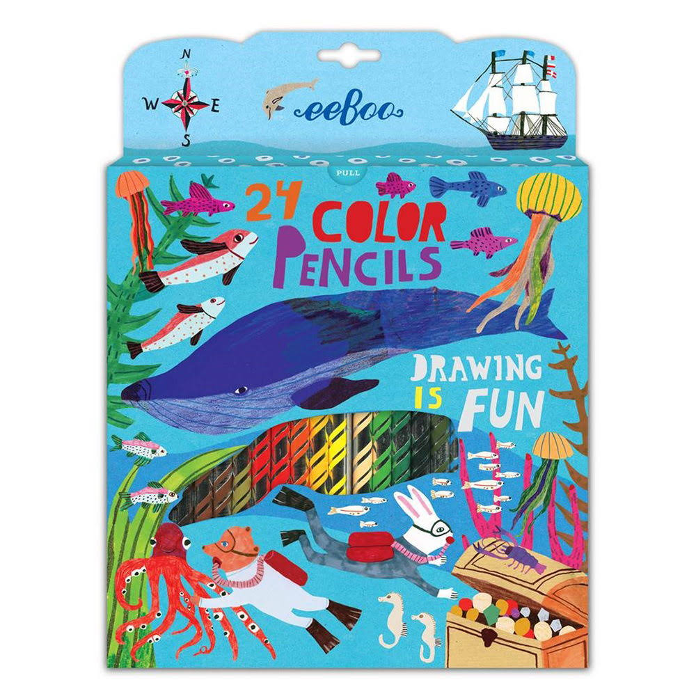 eeBoo Colored Pencils in The Sea Set of 24