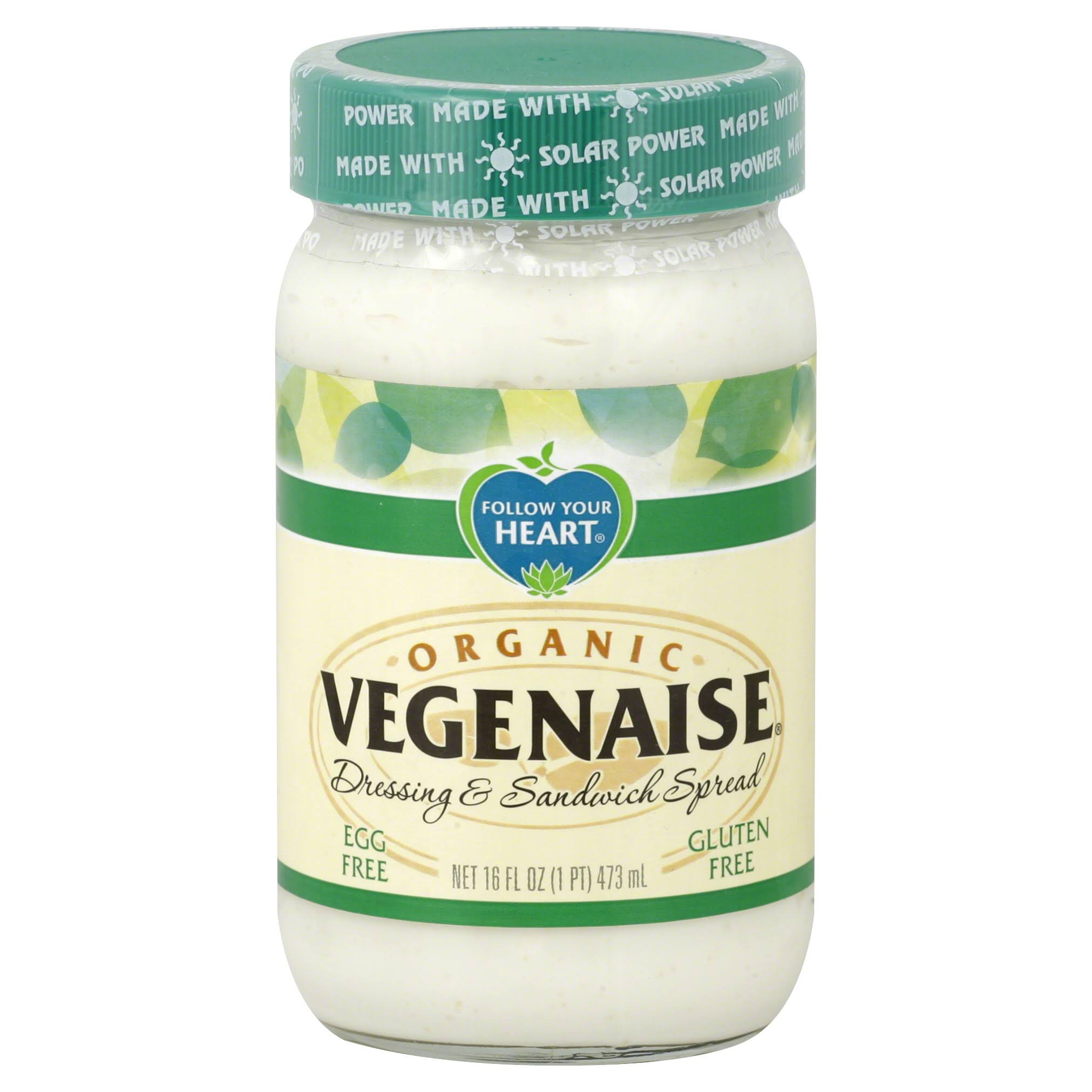 Follow Your Heart Vegenaise Dressing & Sandwich Spread, Organic - 16 fl oz