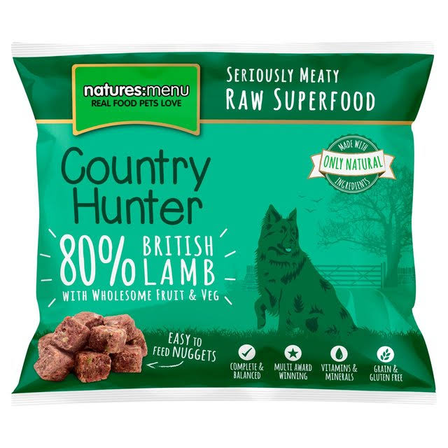 Natures Menu Country Hunter British Lamb Nuggets - 1kg