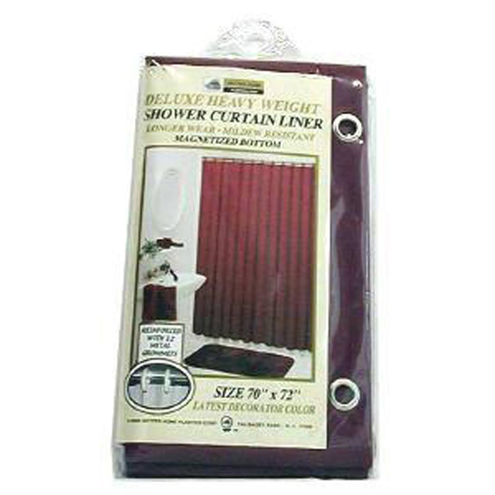 New Vinyl Shower Curtain Liner with Magnets - Burgundy