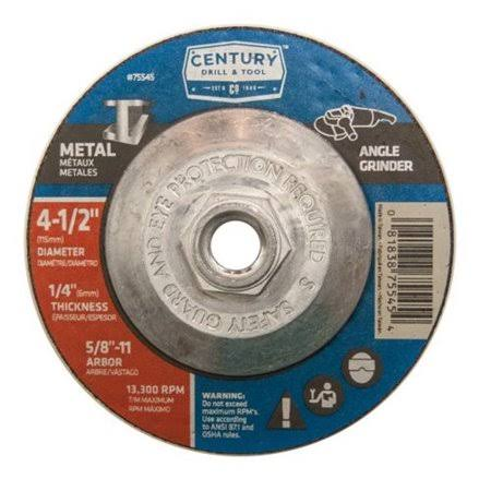 Century Drill & Tool Depressed Center Grinding Wheel - 4-1/2in x 1/4in
