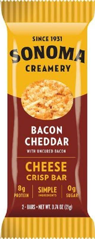 Sonoma Creamery: Bacon Cheddar Cheese Crisp Bars, 0.8 oz
