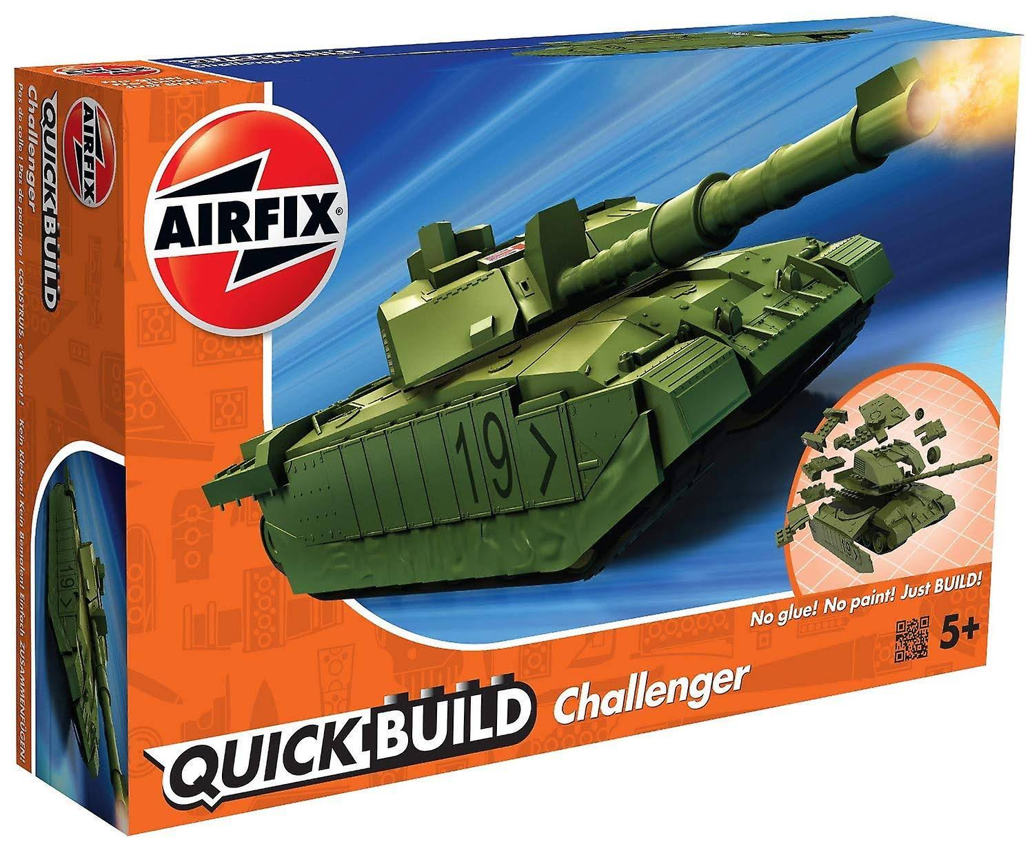 Airfix J6022 Quick Build Challenger Tank Green