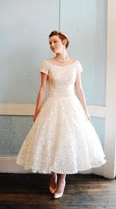 etsy wedding dresses vintage 1950s white lace cap sleeve tea