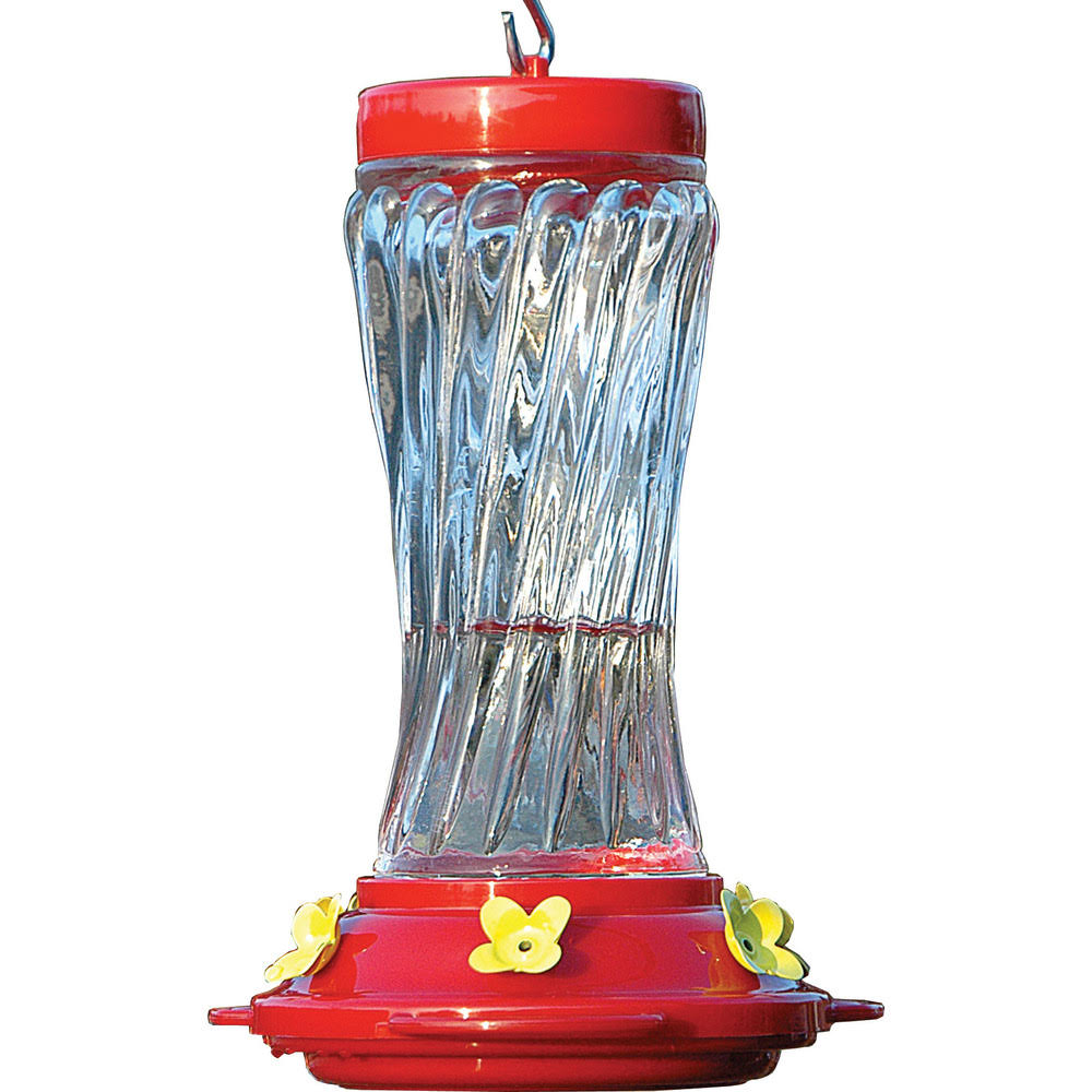 Audubon NA35225 Swirl Glass Hummingbird Feeder - 16oz