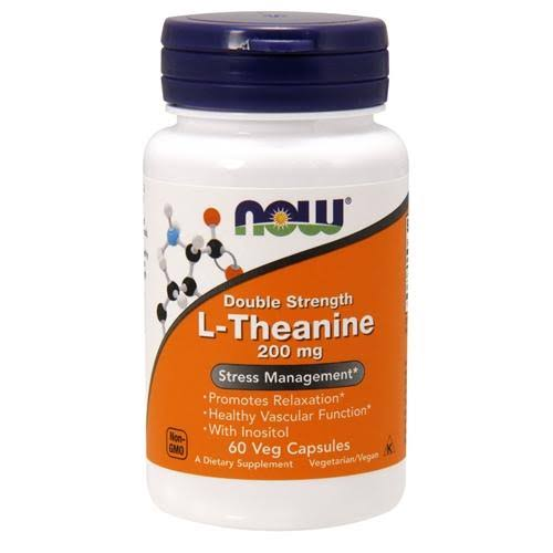 Now L-Theanine Stress Management - 200mg, 60 Vcaps