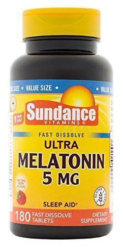 Sundance Ultra Melatonin Dietary Supplement Tablets - 5mg, 180ct