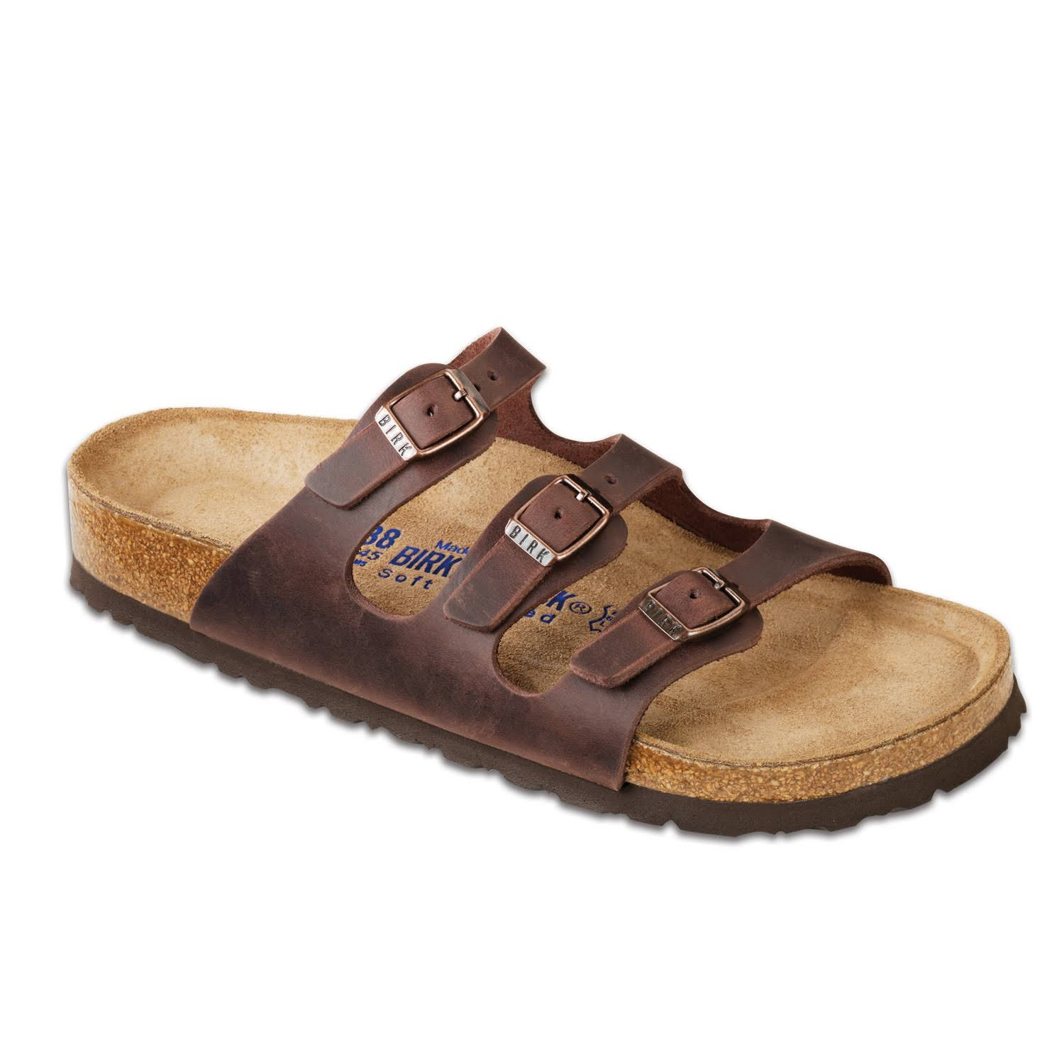 Birkenstock Women's Florida Soft Footbed Sandal - Habana Waxy Leather, 40 M EU