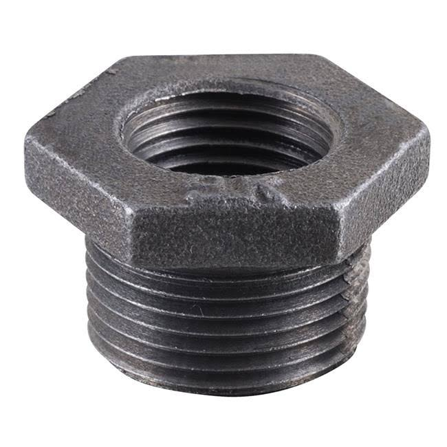"Mueller Global Malleable Iron Bushing - MPT x FPT, Black, 1-1/4"" x 1/2"""