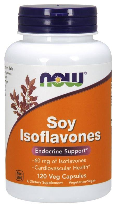 Now Foods Soy Isoflavones Hormonal Supplement - 150mg, 120ct