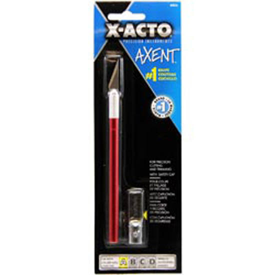 Xacto Axent Knife with Blade and Cap - Red