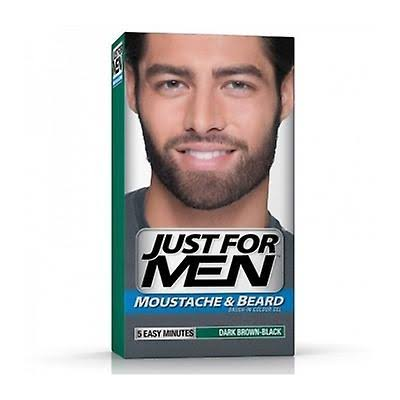 Just for Men Moustache and Beard Brush in Color Gel - Dark Brown Black M-45