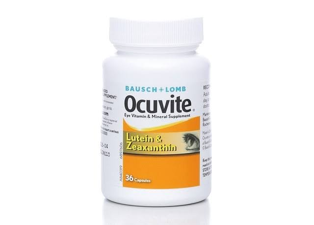 Bausch + Lomb Ocuvite Eye Vitamin & Mineral Supplement - Lutein & Zeaxanthin, 36 Capsules