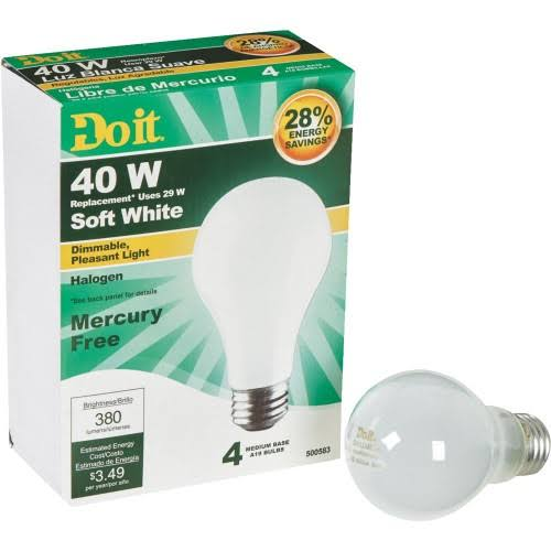 Do it A19 Halogen Light Bulb - 29W