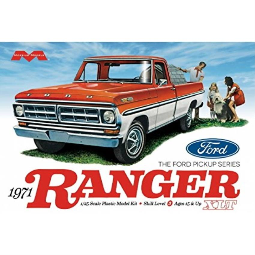 Moebius 1971 Ford Ranger XLT Pickup Scale Model Kit