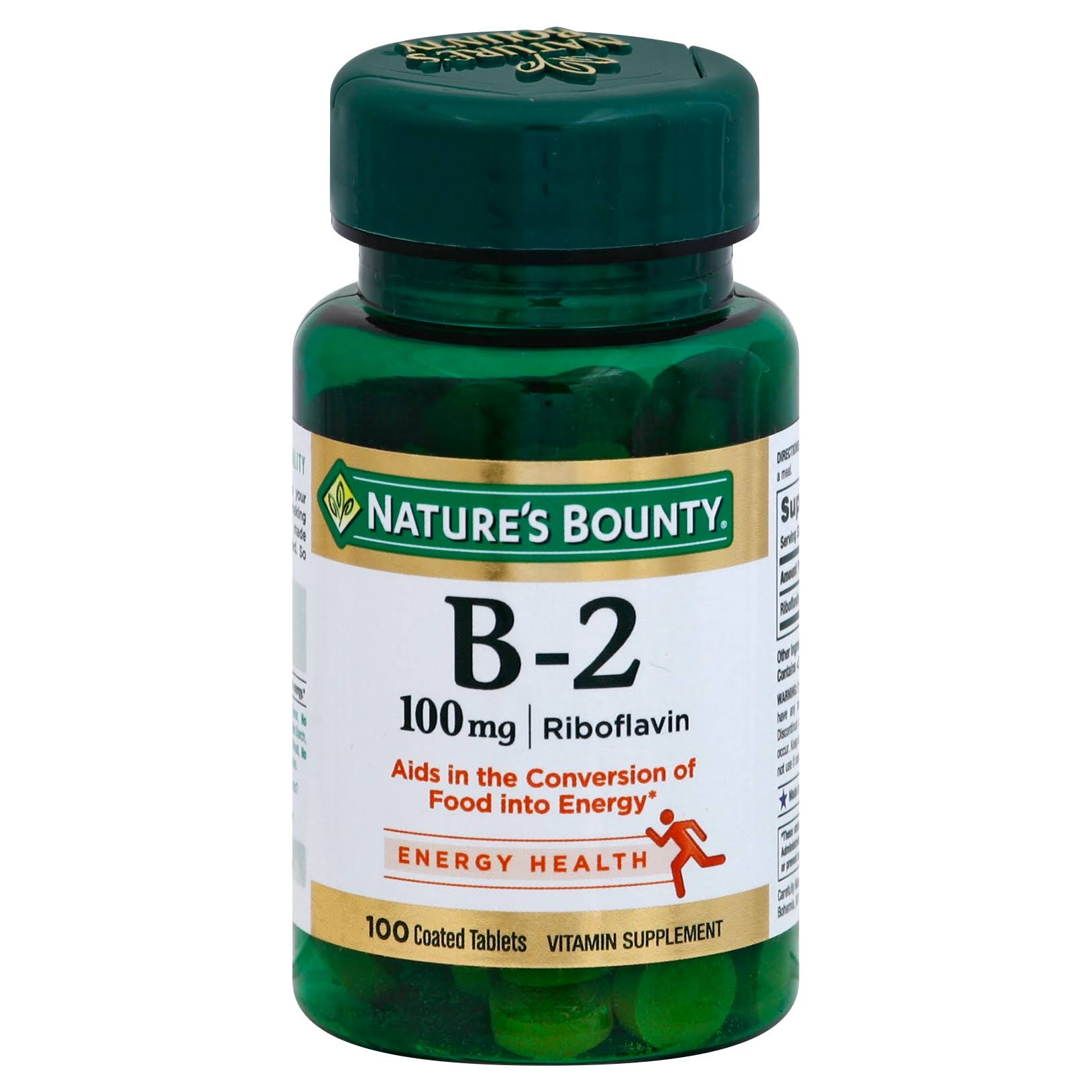 Nature's Bounty Vitamin B2 Riboflavin Supplement - 100 Tablets