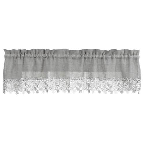 Lillian Swag Valance, Gray