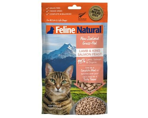 Feline Natural Grain-Free Freeze Dried Cat Food, Lamb & Salmon 3.5oz