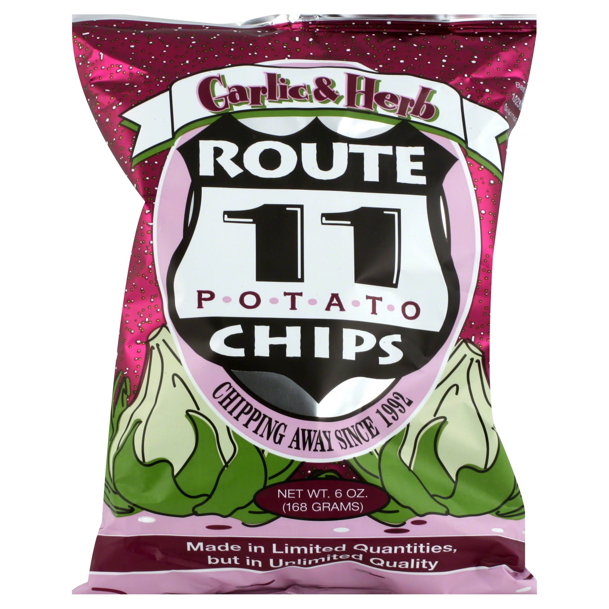Route 11 Potato Chips - Garlic and Herb, 6oz